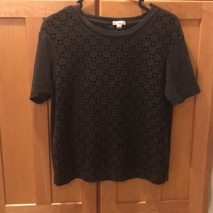 Gap grey shirt with  cut outs in front